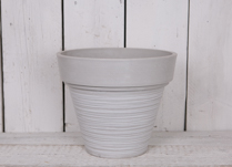 This grey tapered pot would look great planted up indoors and outdoors!