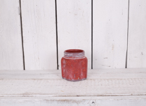 This lovely whitewashed red rustic stone pot would be great for planting your Spring flowers!