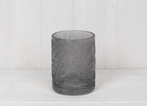 Grey Glass Tealight