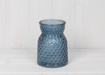 Small Blue Handtied Vase
