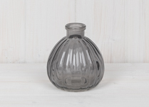 Grey Round Mini Glass Bottle