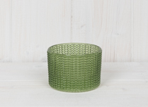 Green Maxi Glass Tealight Holder