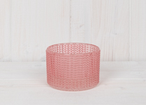 Pink Maxi Glass Tealight Holder