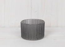 Grey Maxi Glass Tealight Holder