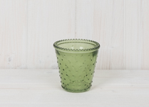Green Dimpled Tealight Holder