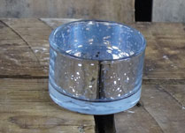 Silver Maxi Glass Tealight Holder