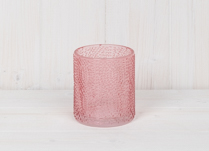 Pink Dimple Glass Pot