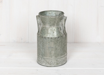 Shabby Chic Decorated Zinc Churn
