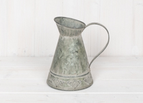 Shabby Chic Decorated Zinc Jug