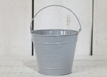 Dove-Grey Decorative Planting Bucket