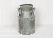Vintage Zinc Churn with Embossment