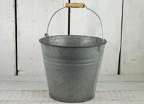 Traditional Double Ridge Zinc Bucket