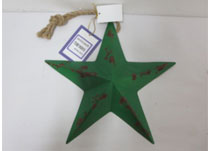 Small Green Metal Star