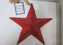 Small Red Metal Star