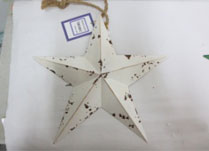 Large White Metal Star