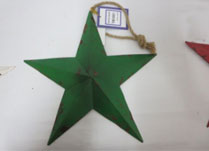 Large Green Metal Star