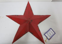Large Red Metal Star