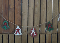 Distressed Colourful Metal Bell Garland