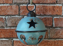 Hanging Blue Metal Bell Decoration