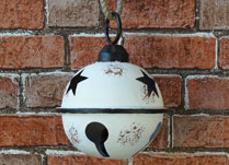 White Metal Bell Decoration