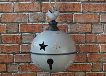 Hanging Grey Metal Bell Decoration