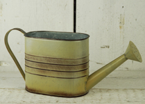 Graduated Light Brown Zinc Watering Can