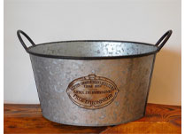 Decorated Zinc Bucket