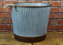 Zinc Planter with Rope Handles