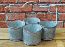 Set of Four Planters with Handle