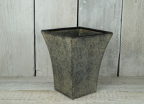 Square planter with swirl embossment