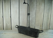 Tin Bath Planter with Tap