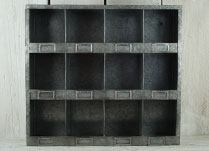 Metal Wall Unit with Pigeon Hole Shelves