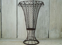 Elegant wire vase planter for wedding decoration