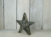 Metal Christmas Star Tealight Holder