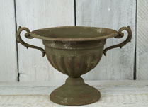 Vintage Effect Zinc Bowl Planter