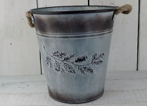 Large Zinc Garden Container with Autumnal Embossment