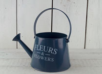 Bright Blue Decorative Zinc Watering Can
