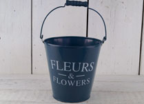 Bright Blue Decorative Zinc Bucket