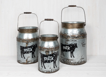 Set of Milk Churns