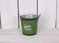 Fresh Produce Locally Grown. Zinc Green Large Round Bucket