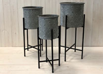 Set of Three Planters on Stands detail page