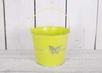 Small Zinc Lime Bucket with Butterfly detail