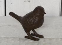 Small Cast Iron Decorative Bird