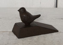 Cast Iron Door Wedge with Decorative Cast Iron Bird on Top