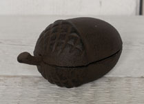 Cast Iron Outdoor Key Safe in the Shape of an Acorn