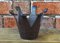 Iron Crown Candle Holder
