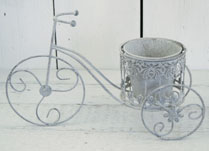 Antique Grey Novelty Tricycle Planter
