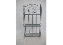 Tall Antique-Green Metal Display Stand