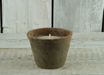 Citronella Garden Candle in Aged Redstone Pot