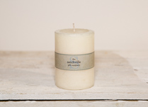Small Unscented Pillar Candle